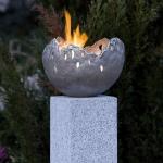 Rottenecker Feuerschale groß, silbern patiniert, D 33 cm