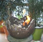 Rottenecker Feuerschale groß, braun patiniert, D 33 cm