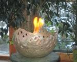 Rottenecker Feuerschale silbern patiniert D 27 cm