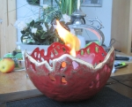 Rottenecker Feuerschale rot patiniert D 27 cm