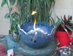 Rottenecker Feuerschale blau patiniert D 27 cm