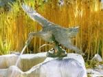 Rottenecker Bronzefigur Stockente, wasserspeiend