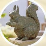 Rottenecker Bronzefigur Eichhörnchen Danilo