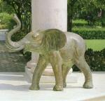 Rottenecker Bronzefigur Portal-Elefant