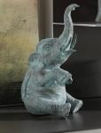 Rottenecker Bronzefigur Indischer Elefant mit Antikfinish sitzend