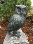 Rottenecker Bronzefigur Uhu