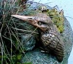 Rottenecker Bronzefigur Eisvogel hell