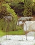 Rottenecker Bronzefigur Reiher Muno, Kopf nach oben, wasserspeiend