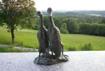 Rottenecker Bronzefigur Laufenten mit Kind