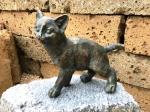 Rottenecker Bronzefigur Katze stehend